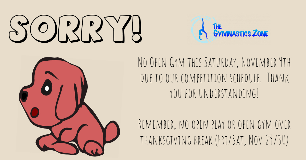 No Open Gym this Saturday